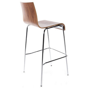 Tall Cobe Bar Stool, Walnut