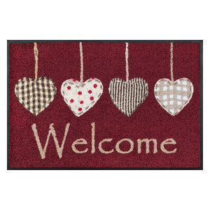 Cottage Hearts Door Mat, Red, 75x50 cm