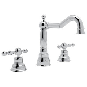 Rohl Arcana 1.2 GPM Lavatory Faucet with 2 Lever Handles, Polished Chrome