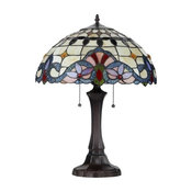 Tiffany-style 2 Light Victorian Table Lamp 16inches Shade