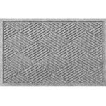 Bungalow Flooring - 2'x3' Welcome Mat, Diamonds, Medium Gray - This well made 2 x 3 Welcome Mat - Diamonds is guaranteed to keep your dog from tracking dirt inside of your house. 100 percent polypropylene material will resist mold, mildew, and water for years to come. Versatile mat, can be used indoor and outdoor, will withstand inclement weather. Non-slip rubber back keeps this welcome mat from sliding on your floor. Geometric diamond design. When ready to clean, it's simple; Brush dirt off and rinse with water hose. Manufactured in the United States. Manufactured individually per order and shipped. This diamond doormat comes in a variety of cool colors.