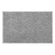Bungalow Flooring - 2'x3' Welcome Mat, Diamonds, Medium Gray - Doormats