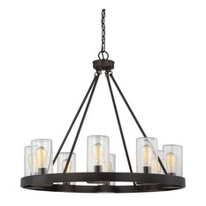 Trade Winds Candler 8-Light Outdoor Chandelier in Oil Rubbed Bronze