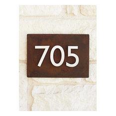"12""x8"" Address Plaque, Rust"