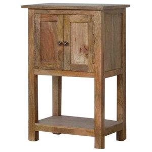 2 Door Mango Wood Compact Telephone Table