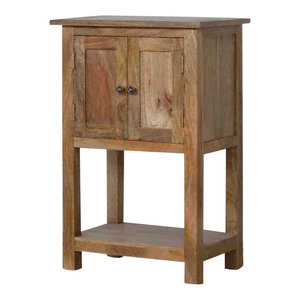2 Door Mango Wood Compact Telephone Table