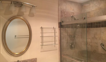 Tan Tile Full Bathroom Remodel
