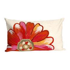"Visions II Daisy Pillow, Orange, 12""x20"""