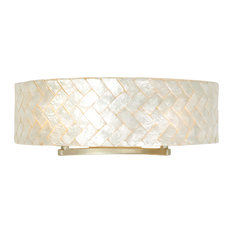 Radius 2-Light Vanity Fixture, Gold Dust and Herringbone