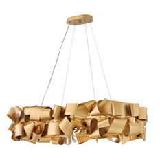 Delfina 6 Light Island Light in Deluxe Gold
