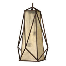 Luxury Contemporary Pendant Light, Seattle Series, Olde Bronze
