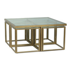 Brass Coffee Table, Squared