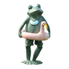 Frog Sculpture Beach Buddy