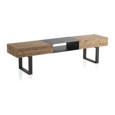 Vigo Wooden and Iron TV Stand