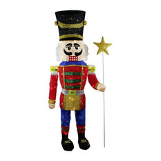 northlight seasonal 65 lighted sparkling tinsel nutcracker christmas yard art decoration outdoor holiday