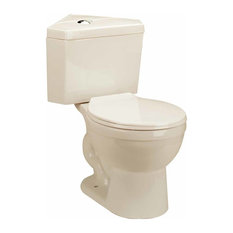 the supply inc bone china round space saving dual flush corner toilet