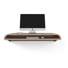 Minimal Wall Desk Designed by Dario Antonioni, Walnut, Large