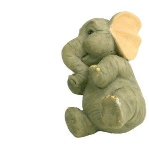 Elephant Drawer Knobs, Lowered Trunk, Set of 5