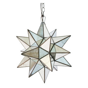 Antique-Style Mirror Star Chandelier, Small