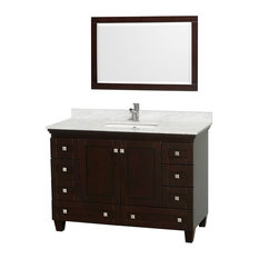 "Wyndham Collection 48"" Acclaim Espresso Single Vanity With White Porcelain Sink"