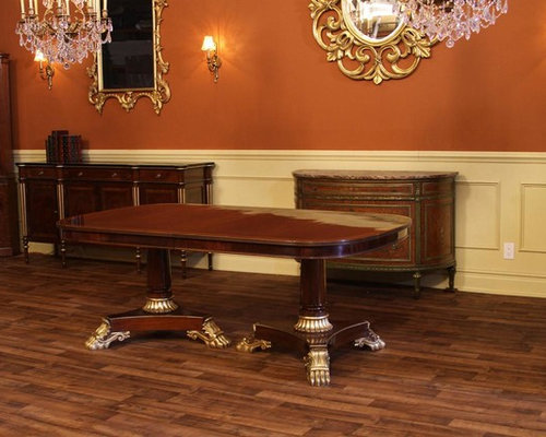 French Empire Or Regency Style Double Pedestal Dining Table (K 79 133 REG)