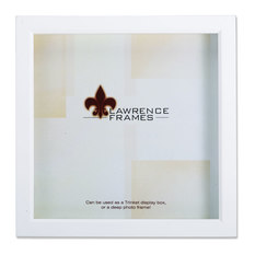 lawrence frames white wood treasure box shadow box 12x12 picture frame picture frames - Shadow Box Frames