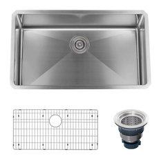 """Miseno MSS3219SR 32"""" Undermount Single Basin Stainless Steel Kitchen Sink"""