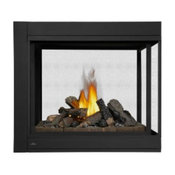 Ascent 3 Sided DV Peninsula Fireplace with Logs - NG