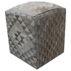 Natural Kilim Cube Stool 1