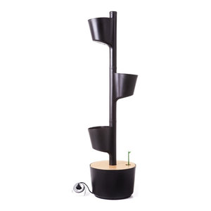Digital Self-Watering Vertical Garden With 3 Planters, Black