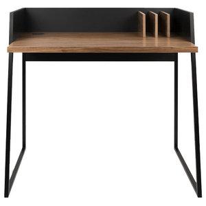 Malmo Home Office Desk, Black/Walnut