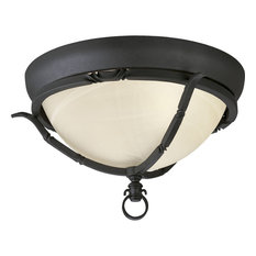 2-Light Close-To-Ceiling, Forged Black