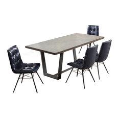 Industrial Rectangular 5-Piece Dining Set