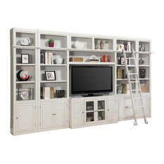 Parker House Boca Inset Library Wall Entertainment Center Bookcase