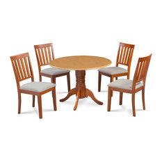 42-inch Burlington Dinette Dining Set Soft-Padded Seat Chairs 5 Piece Set