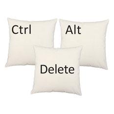 Ctrl Alt Delete Throw Pillows 20x20 White Computer Cushions