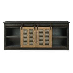 Universal Furniture Curated Merritt Entertainment Conosle Cobalt Black