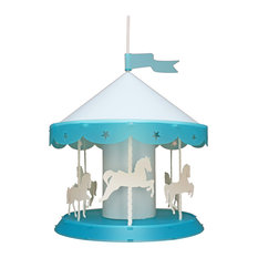 Carousel Pendant Light, Turquoise