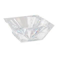 """Diamond"" Acrylic Crystalline Center Piece Bowl"