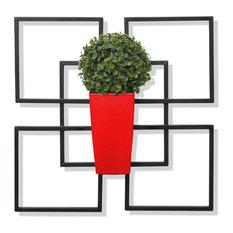 Algreen Vida1, Wall Art With Planter, Red
