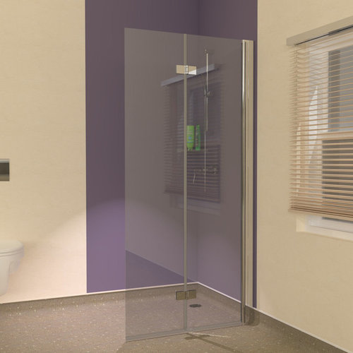 Space Saving Wet Room Folding Showerwall Screen Ideas
