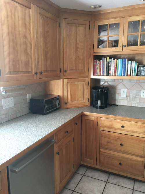 Birch Cabinets What Color Countertops And Backsplash