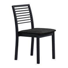Skovby Mobelfabrik A/S Slatted Dining Chairs, Set of 2, Black