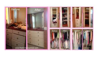 Master bedroom Closet Reorganization