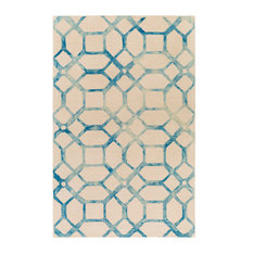 Artistic Weavers   Organic AWOG 2276 Teal And Ivory Contemporary Rug, 5u0027x8