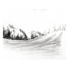 """Bring home Dear Valley, Utah with """"Drifting"""" charcoal on paper by Ann Rea"""