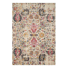 """Ivory, Pink, Gold Nadia Area Rug by Loloi II, 4'0""""x5'7"""""""