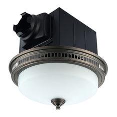 110 CFM Bathroom Exhaust Fan, LED Lights and Nightlight Bronze
