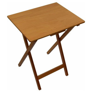 Modern Folding Table in Solid Pine Wood, Antique Pine