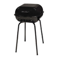 MECO Corporation - The Sizzler Charcoal Grill, Black, Black - Outdoor Grills